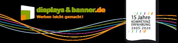 DISPLAYS-UND-BANNER.DE | mobile und faltbare Messesysteme | Displaysysteme und Großformatdruck