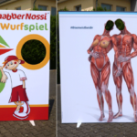 Fotowand-Guckloch