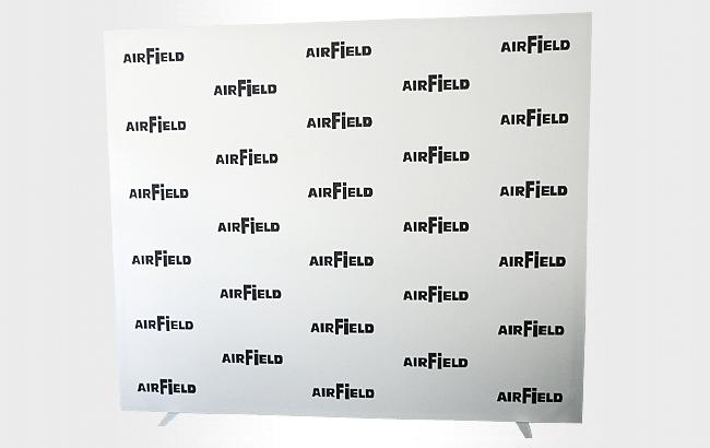 Pressewand-Sponsorenwand